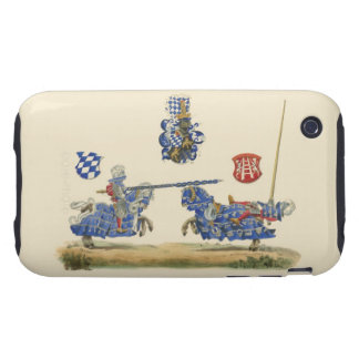 Jousting Knights - Medieval Theme iPhone 3 Tough Covers