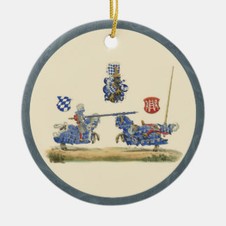 Jousting Knights - Medieval Theme Ceramic Ornament