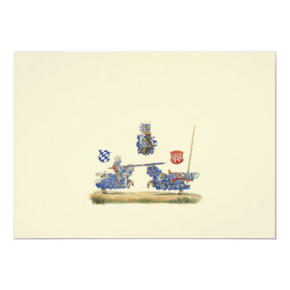 Jousting Knights - Medieval Theme 5x7 Paper Invitation Card