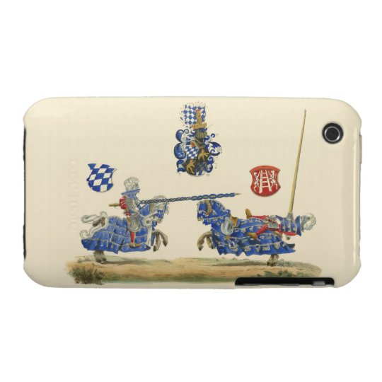 Jousting Knights - Medieval Theme iPhone 3 Cover