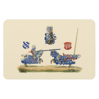 Jousting Knights - Medieval Theme Magnet