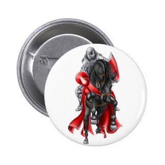 Jousting Medieval Knight on Horse Pinback Button