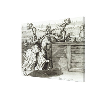 Jousting Tournament in a square Canvas Print