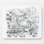 Jóvenes del gen del banco del trabajo del artista  tapete de ratón