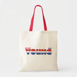 Jóvenes del voto 2010 elecciones blanco y azul roj bolsa