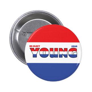 Jóvenes del voto 2010 elecciones blanco y azul roj pins