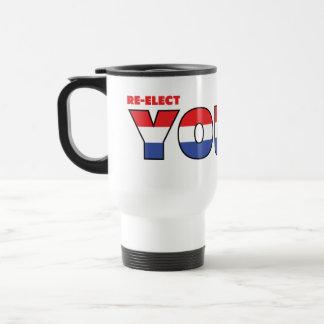 Jóvenes del voto 2010 elecciones blanco y azul taza de viaje de acero inoxidable