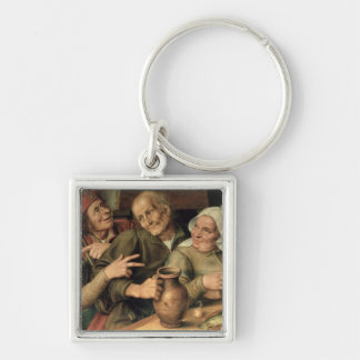 Jovial Company, 1564 Silver-Colored Square Keychain