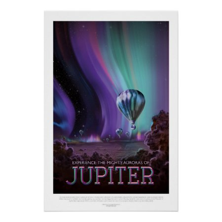 Jovian Aurora space destination vacation advert Poster