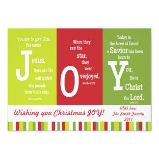 JOY 2-Sided Scripture Christmas Card-Customize It! Card
