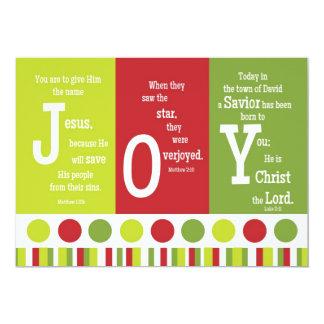 JOY 2-Sided Scripture Verse Christmas Card