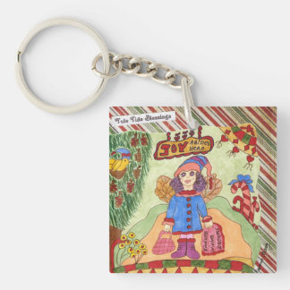 JOY Abides Here Winter Fairy Acrylic Key Chain