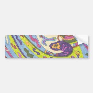 Joy, abstract bumper sticker