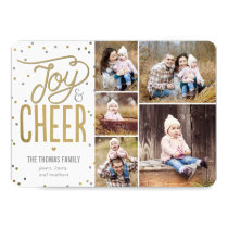 Joy and Cheer Collage Holiday Photo Card