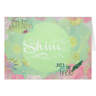 Joy and happiness friendship  greeting card