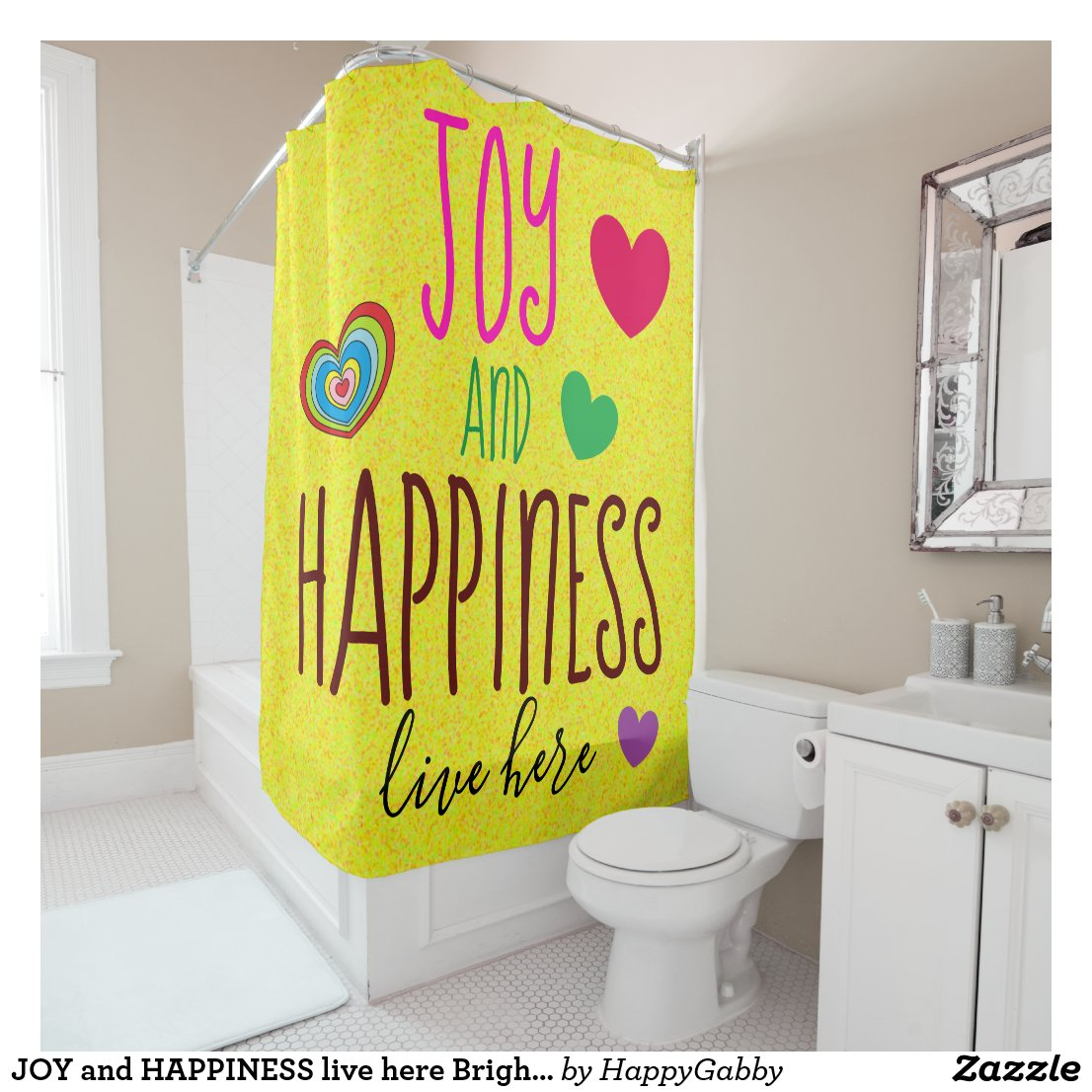 happy Shower Curtain