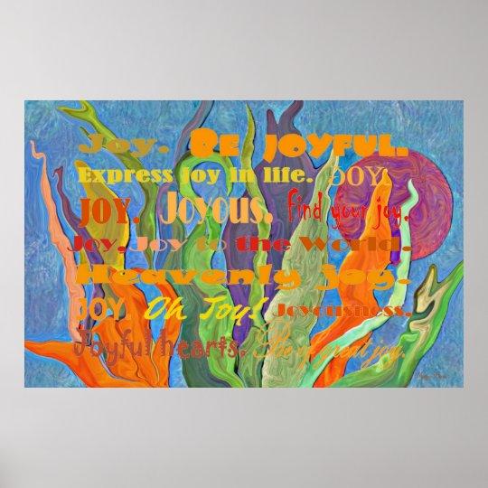 Joy and nature art poster