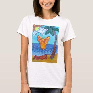 Joy and Peace Beach Angel Art Custom T-shirts