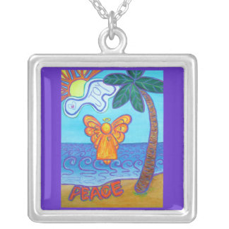 Joy and Peace Beach Angel Art Jewelry Necklaces