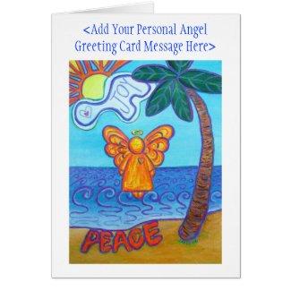 Joy and Peace Beach Angel Custom Greeting Cards