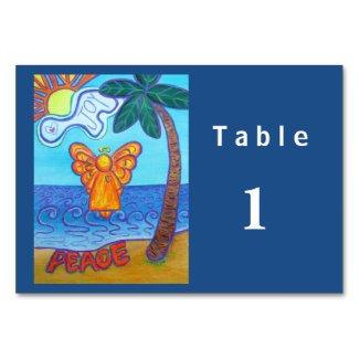 Joy and Peace Beach Angel Custom Table Cards