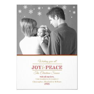 Joy and Peace Photo Greeting 5x7 Paper Invitation Card