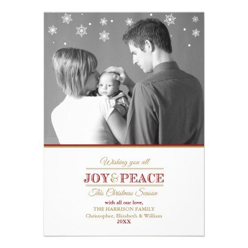 Joy and Peace Photo Template2 Flat Card