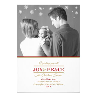 Joy and Peace Photo Template2 Flat Card