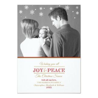 Joy and Peace Photo Template2 Flat Card Invitation