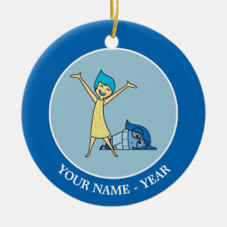 Joy and Sadness Together Add Your Name Ceramic Ornament