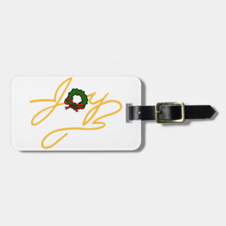 Joy and Wreath Tag For Bags