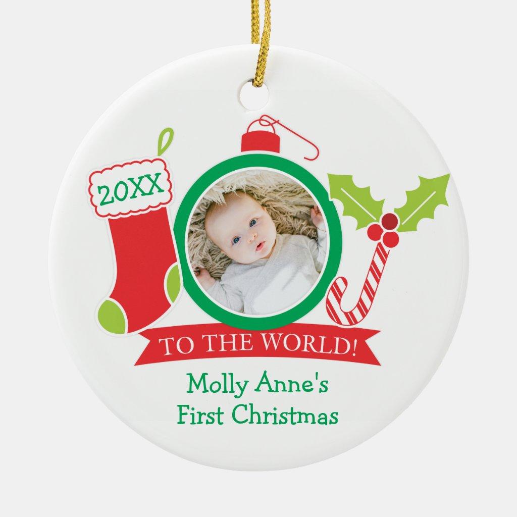 JOY Baby's 1st Christmas Ceramic Ornament