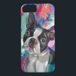 "&#39;Joy&#39; Boston Terrier Dog Art Phone case<br><div class=""desc"">Brighten up your phone or tablet with this colorful Boston Terrier art.</div>"