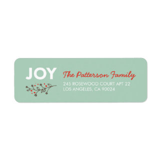 JOY Branch   Modern Holiday Address Labels