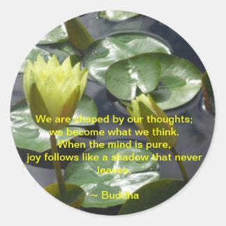Joy Buddha Quote Sticker
