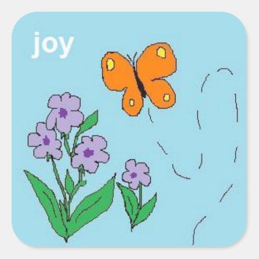 joy butterfly stickers