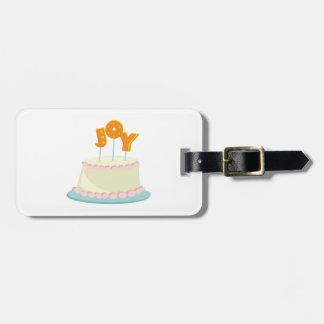 Joy Cake Bag Tag