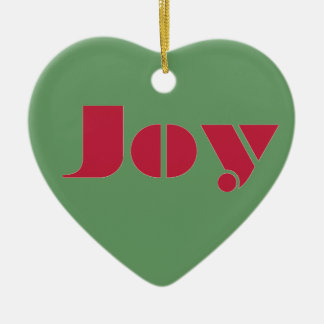 Joy Ceramic heart- ornament
