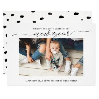 Joy & Cheer New Year Holiday Card