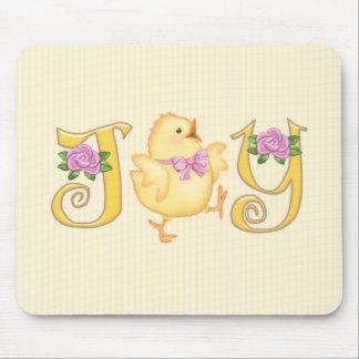 JOY - Chick - Yellow Mouse Pad