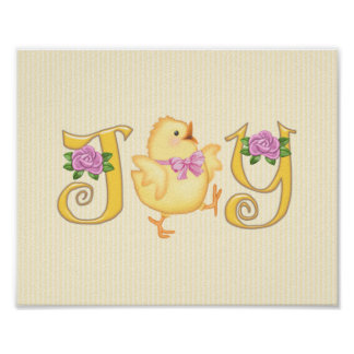 JOY - Chick - Yellow Poster