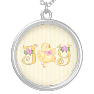 JOY - Chick - Yellow Silver Plated Necklace