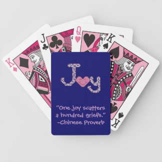 Joy Chinese Proverb Playing Cards