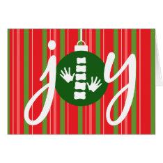 Joy Chiropractic Christmas Card at Zazzle