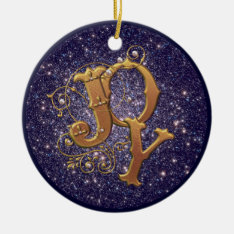 Joy Christian Christmas Decoration at Zazzle