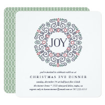 Joy | Christmas Eve Dinner Invitation