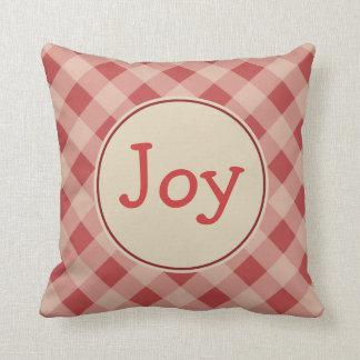 Joy Christmas Gingham  Pillow