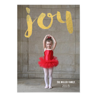 Joy Christmas Gold Foil Photo Cards