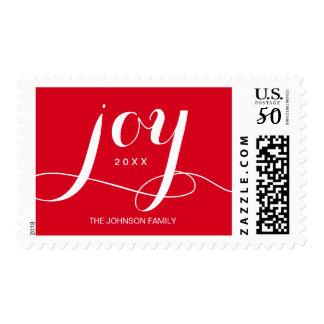 Joy Christmas Holiday | Postage Stamps