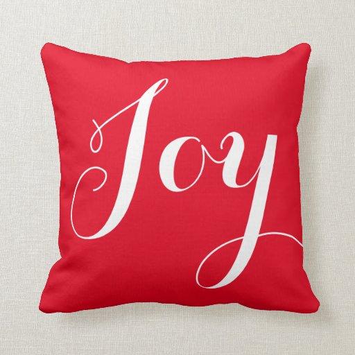 Joy Christmas Throw Pillows : Joy Christmas/Holiday Throw Pillow Zazzle
